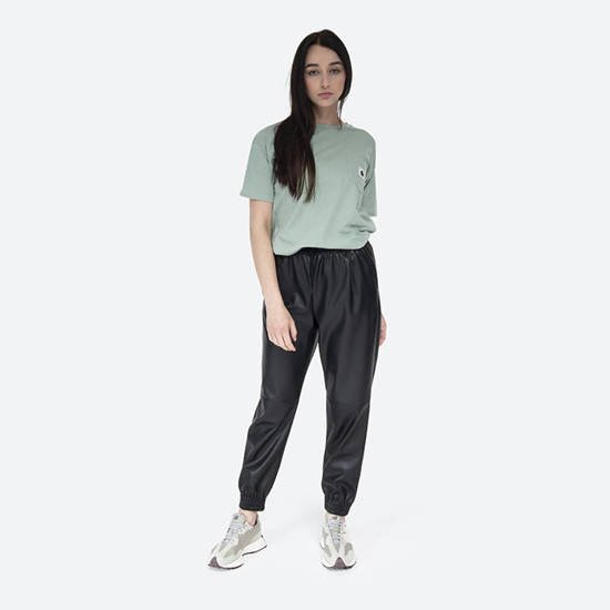 Carhartt WIP W S/S Carrie Pocket T-Shirt I028439 FROSTED GREEN