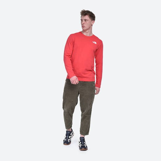 The North Face Longsleeve Red Box Tee Rococco NF0A493LV34