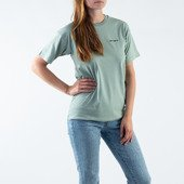 Carhartt WIP W' S/S Script Embroidery T-Shirt I028441 FROSTED GREEN/BLACK