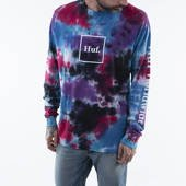 T-shirt HUF Prism Wash Domestic Longsleeve TS01184 BLACK